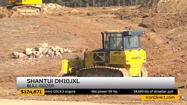 Shantui dozers were among the featured products.